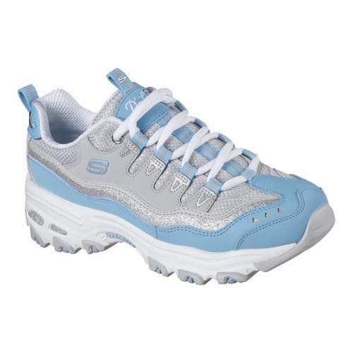 Women's Skechers D'Lites New Retro Sneaker Light Blue/Gray