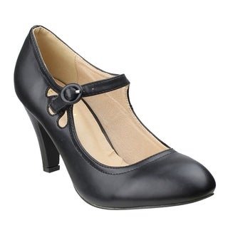 Beston DE39 Women's Teardrop-Hollow Out Mary Jane Pumps One Size Small