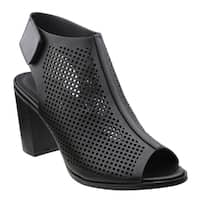 Beston DE38 Women's Perforated Laser-out Hook And Loop Stacked Chunky Sandal