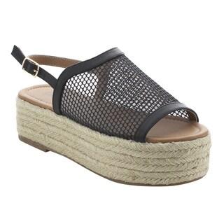 BONNIBEL FK29 Women's Comfortable Platform Wedge Heel Espadrilles Sling Back Sandals