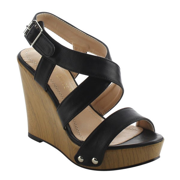 Shop CHASE & CHLOE EH86 Women's Criss-cross Ankle Strap ...