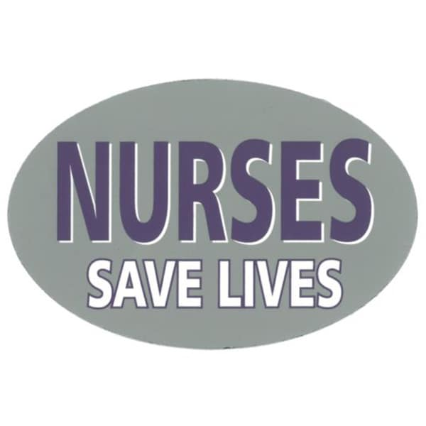 Nurses Save Lives Auto and Home Magnet 5-3/4 Inches by 3-3/4 Inches Oval