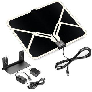 ViewTV Flat HD Digital Indoor Amplified TV Antenna - 65 Miles Range
