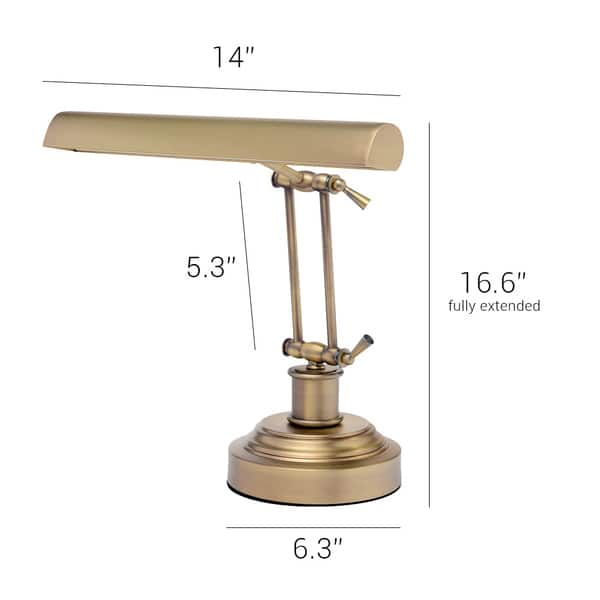 Shop 14 Led Piano Desk Lamp With Dimmer Antique Brass