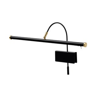 """19"""" LED Grand Piano Lamp with Dimmer - Black/Brass Accents"""