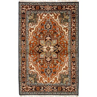 eCarpetGallery Hand-knotted Royal Heriz Red Wool Rug - 4'0 x 6'1