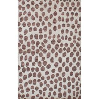 eCarpetGallery La Seda Ivory Wool Art Silk Hand-knotted Rug (4'11 x 7'11)