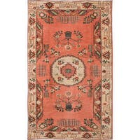 eCarpetGallery Antalya Pink Wool Hand-knotted Rug (5'10 x 9'8)
