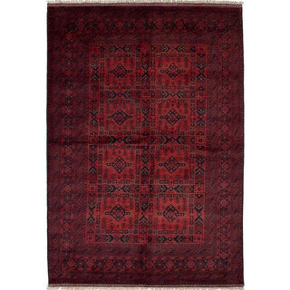 eCarpetGallery Finest Khal Mohammadi Red Wool Hand-knotted Rug (6'7 x 9'9)