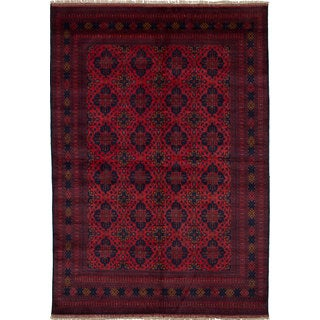 eCarpetGallery Finest Khal Mohammadi Red Wool Hand-knotted Rug (6'7 x 9'5)
