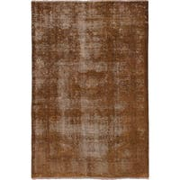 eCarpetGallery Hand-knotted Persian Vogue Brown Wool Rug - 6'6 x 10'