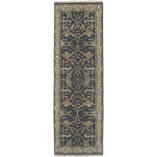 eCarpetGallery Hand-knotted Royal Ushak Grey Wool Rug (2'6 x 7'11)
