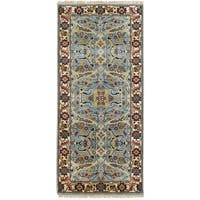 eCarpetGallery Hand-knotted Serapi Heritage Blue Wool Rug - 2'7 x 5'10