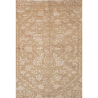 eCarpetGallery La Seda Brown Wool Art Silk Hand-knotted Rug (6'1 x 9'0)