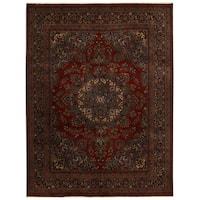 Handmade Herat Oriental Persian Mashad Wool Rug - 9'8 x 12'10 (Iran)