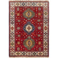 eCarpetGallery Royal Kazak Red Wool Hand-knotted Rug - 4'8 x 6'6