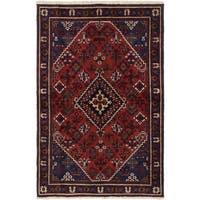 eCarpetGallery Joshagan Red Wool Hand-knotted Rug (4'3 x 6'6)