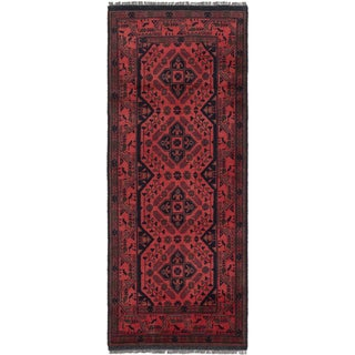 eCarpetGallery Finest Khal Mohammadi Brown Wool Hand-knotted Rug (2'9 x 6'5)