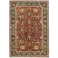 eCarpetGallery Hand-knotted Serapi Heritage Red Wool Rug - 6'2 x 9'2
