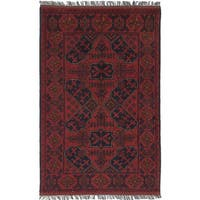 eCarpetGallery Hand-knotted Finest Khal Mohammadi Red Wool Rug - 2'7 x 4'1