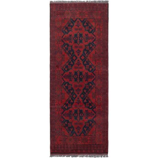 eCarpetGallery Finest Khal Mohammadi Red Wool Hand-knotted Rug (2'5 x 6'3)