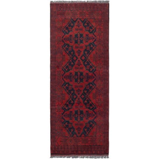 eCarpetGallery Finest Khal Mohammadi Red Wool Hand-knotted Rug - 2'5 x 6'3