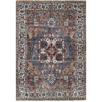 eCarpetGallery Sterling Grey Rayon from Bamboo Silk Hand-knotted Rug (6'1 x 8'10)