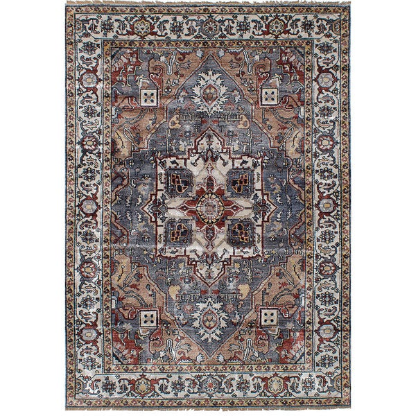 eCarpetGallery Sterling Rayon from Bamboo Silk Hand-knotted Rug