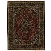 Handmade Herat Oriental Persian Mahsad Wool Rug (Iran) - 9'9 x 12'11