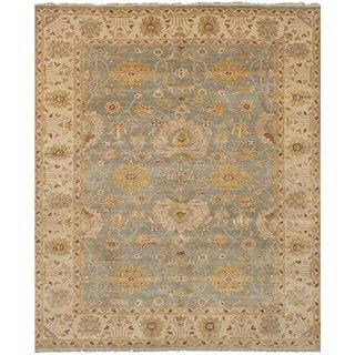 eCarpetGallery Heirloom Blue Wool Hand-knotted Rug (8'1 x 9'10)
