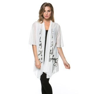 High Secret Women's Black and White Print Loose Fit Open Front Cardigan (Option: S)