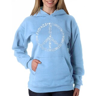 Women's Different Faiths Peace Sign Hooded Sweatshirt