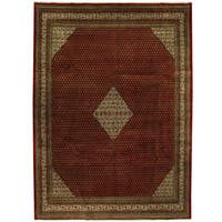 Herat Oriental Persian Hand-knotted Mir Wool Rug (9'5 x 12'9)