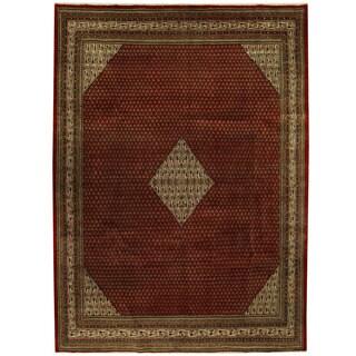 Herat Oriental Persian Hand-knotted Mir Wool Rug (9'5 x 12'9)