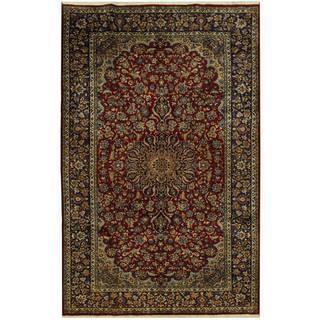 Handmade One-of-a-Kind Isfahan Wool Rug (Iran) - 8' x 12'9