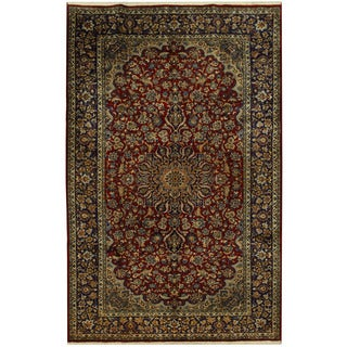 Herat Oriental Persian Hand-knotted Isfahan Wool Rug (8' x 12'9)