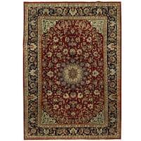 Handmade Herat Oriental Persian Isfahan Wool Rug (Iran) - 8'8 x 12'2