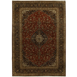 Herat Oriental Persian Hand-knotted Kashan Wool Rug (9'9 x 13'9)