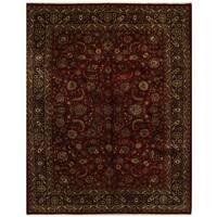 Herat Oriental Persian Hand-knotted Mashad Wool Rug (10'9 x 13'6)