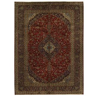 Herat Oriental Persian Hand-knotted Kashan Wool Rug (9'10 x 13'4)