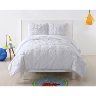 Laura Hart Kids Pinch Pleat Solid 3-piece Duvet Set