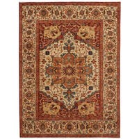 Herat Oriental Indo Hand-knotted Serapi Wool Rug (8'1 x 10'2)