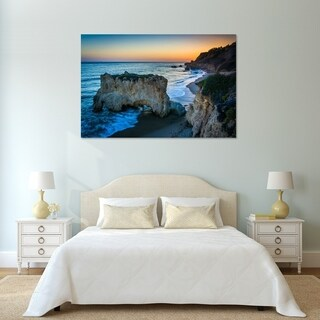Noir Gallery El Matador Beach at Sunset in Malibu, Los Angeles, California Photo Print on Metal.