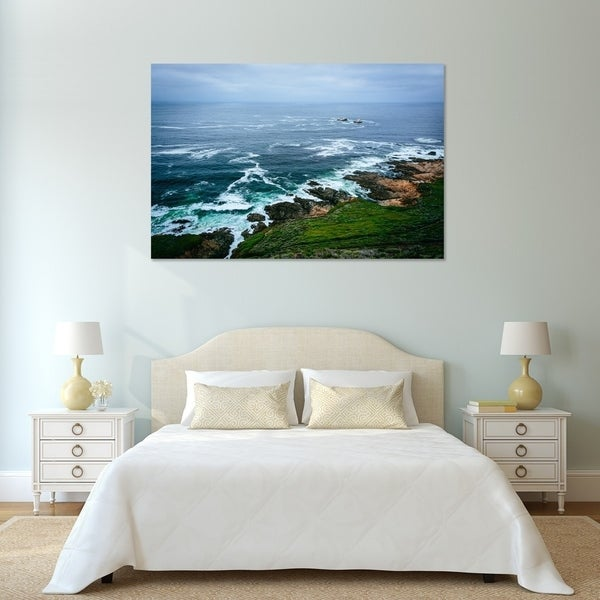Noir Gallery Rocky Coast in Big Sur, California Mounted Fine Art Photo Print.