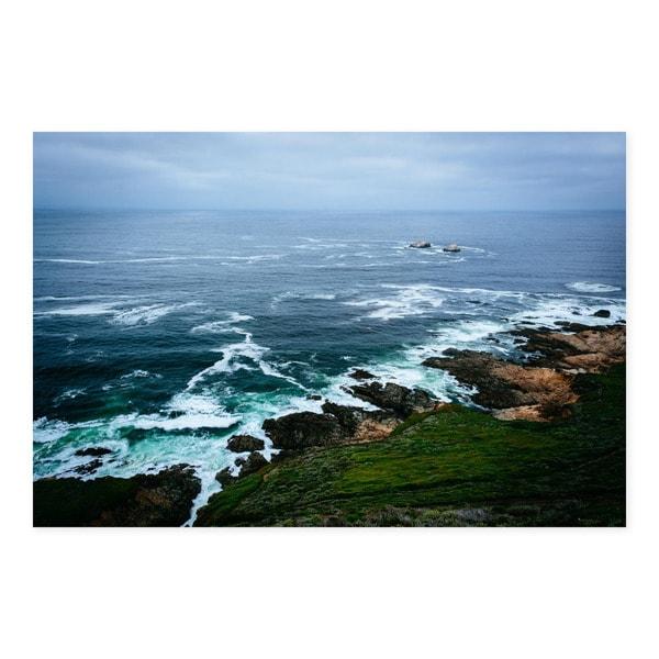 Noir Gallery Rocky Coast in Big Sur, California Mounted Fine Art Photo Print.