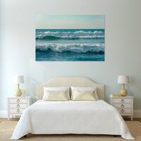 Noir Gallery Waves in the Pacific Ocean, in Imperial Beach, California Photo Print on Metal.