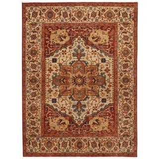 Handmade One-of-a-Kind Serapi Wool Rug (India) - 9'11 x 13'11