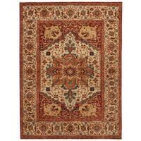 Herat Oriental Indo Hand-knotted Serapi Wool Rug (9'11 x 13'11)