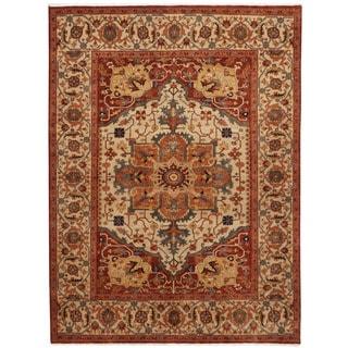 Herat Oriental Indo Hand-knotted Serapi Wool Rug (6' x 8'9)