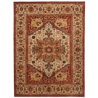 Herat Oriental Indo Hand-knotted Serapi Wool Rug (6' x 8'9)